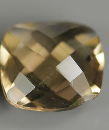 1.80 ct Natural Smoky Quartz Checkerboard Cut Loose Gemstone