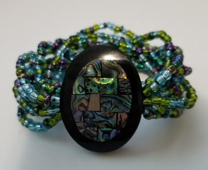 Natural Abalone Shell Beaded Bracelet