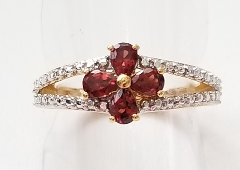 New Natural Mozambique Garnet Ring Size 5