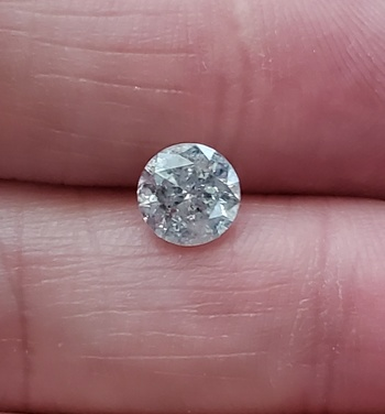 CERTIFIED 1.01 ct Natural Diamond Round Cut Loose Gemstone Laser Inscribed