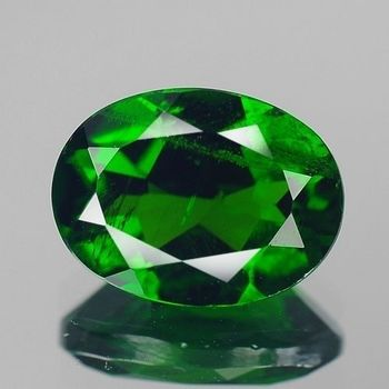 5x3mm VS Natural Chrome Diopside Cushion Cut Loose Gemstone