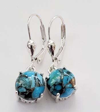 No Reserve Natural Mojave Turquoise Earrings
