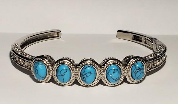 No Reserve Howlite Cuff Bracelet