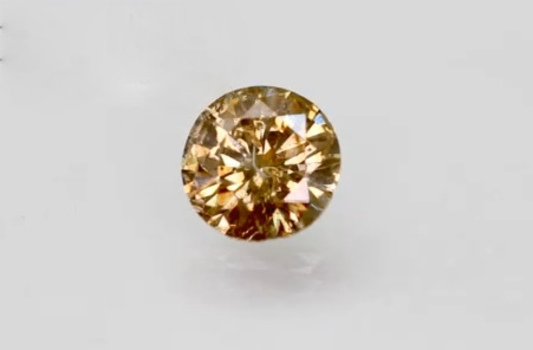 CERTIFIED 1.05 ct Natural Champagne Diamond Round Cut Loose Gemstone