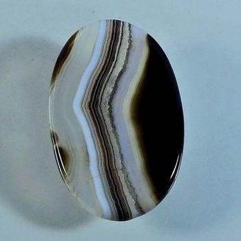 32.35 ct Natural Black Banded Agate Loose Gemstone