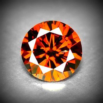 Rare .19 ct Natural Red Diamond Round Cut Loose Gemstone