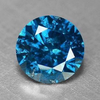 .15 ct Natural Blue Diamond Round Cut Loose Gemstones