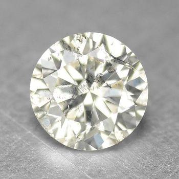 K Color Natural Diamond Round Cut Loose Gemstone