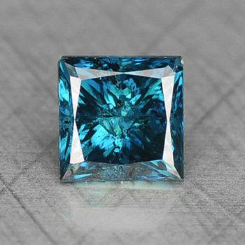 .15 ct Natural Blue Diamond Princess Cut Loose Gemstone