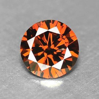 Rare .13 ct Natural Red Diamond Round Cut Loose Gemstone
