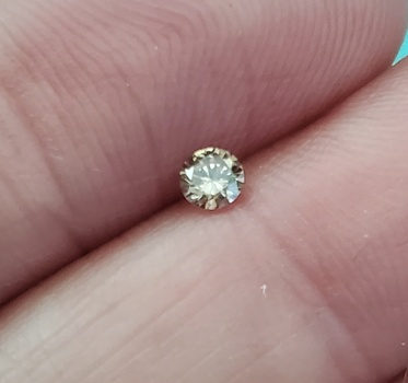 .11 ct Natural Champagne Diamond Round Cut Loose Gemstone