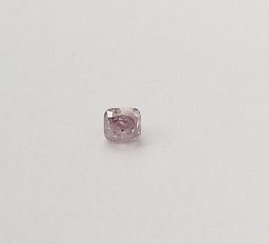 Rare .09 ct Natural Pink Diamond Cushion Cut Loose Gemstone