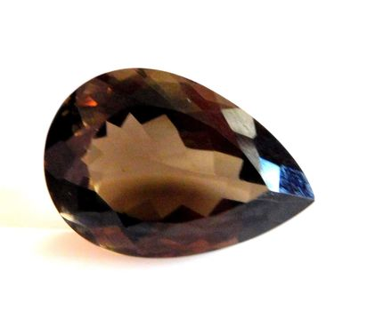 2.46 ct Natural Smoky Quartz Pear Cut Loose Gemstone
