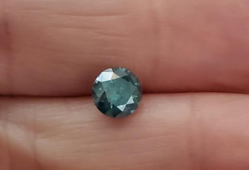 CERTIFIED .81 ct Natural Blue Diamond Round Cut Loose Gemstone