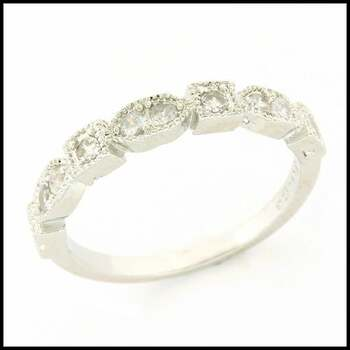 0.30ctw White Sapphire Ring Size 6.5