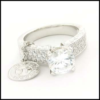 14k White Gold Overlay, 2.58ctw (AAA Grade) CZ's Bridal Engagement Ring Size 7