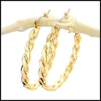 14k Yellow Gold Overlay Earrings