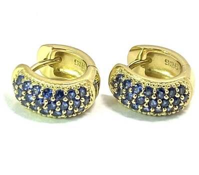 .925 Sterling Silver, 0.75ctw Sapphire Earrings