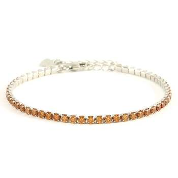 .925 Sterling Silver, 3.00ctw Golden Topaz Tennis Bracelet