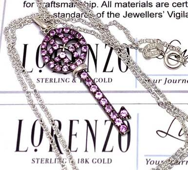 Lorenzo .925 Sterling Silver, 1.00ctw Pink Topaz Necklace