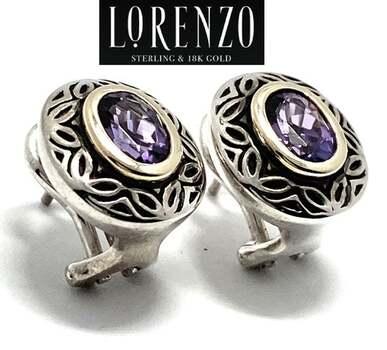 Lorenzo .925 Sterling Silver, 1.4ct Amethyst Earrings