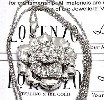 Lorenzo .925 Sterling Silver, 2.41ct AAA Grade CZ's Necklace