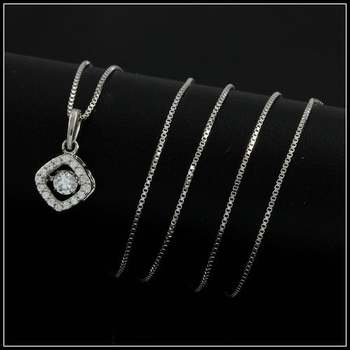 "0.24ctw White Diamonique, 925 Sterling Silver ""Dancing Diamond"" Necklace"