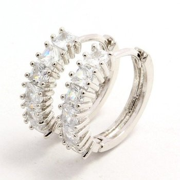 0.36ctw White Sapphire Huggie Earrings