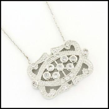 0.50ctw White Sapphire Necklace