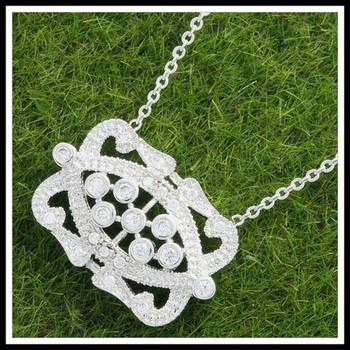 0.50ctw White Sapphire Necklace