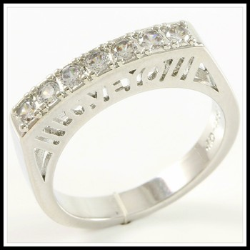 0.56ctw White Sapphire Ring Size 7