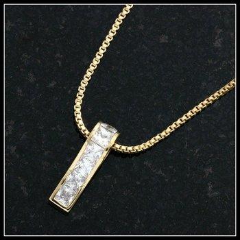 0.60ctw White Sapphire Necklace