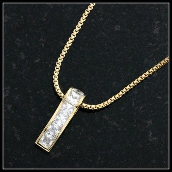 0.60ctw White Sapphire Necklace