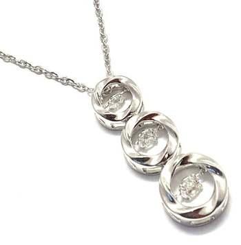"0.75ctw White Diamonique, 925 Sterling Silver ""Dancing Diamond"" Necklace"