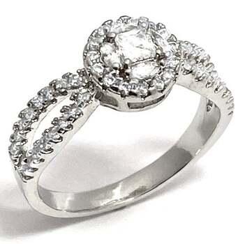 0.75ctw White Diamonique Ring Size 8