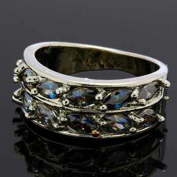 0.84ctw Mystic Topaz Ring Size 6 3/4
