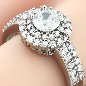 0.90ctw White Sapphire Ring Size 8
