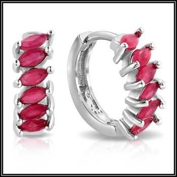 1.00ctw AAA+ Grade Fine Red Cubic Zirconia Earrings