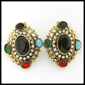 10.22ctw Multi-Color Gemstones Earrings