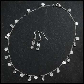 10.50ctw AAA+ Grade Fine White Cubic Zirconia Set of Necklace & Earrings
