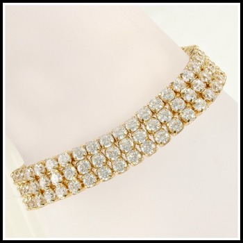 10.75ctw Beautifully created, High-End White Sapphire Bracelet