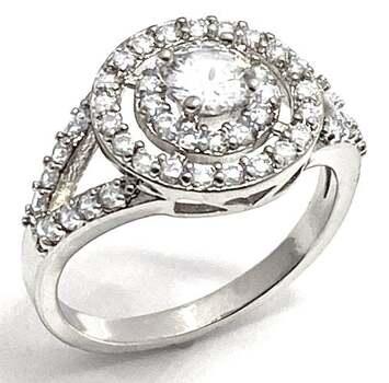 1.0ctw White Diamonique Engagement Ring Size 7