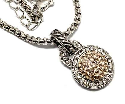 1.15ctw White & Golden Topaz Necklace