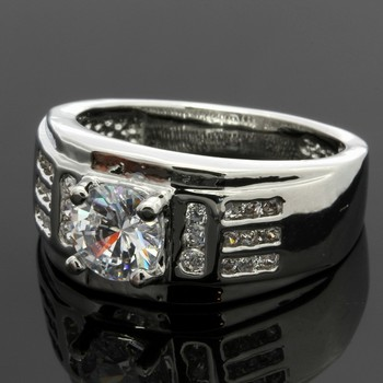 1.15ctw White Sapphire Ring Size 7 3/4
