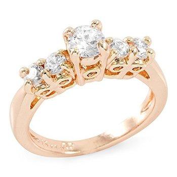 1.20 CTTW Round Brilliant Cubic Zirconia CZ Engagement Ring, Size 7
