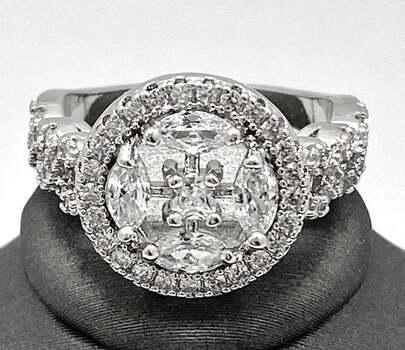 1.20ctw White Sapphire Ring