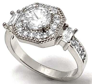 1.25ctw White Diamonique Ring Size 7