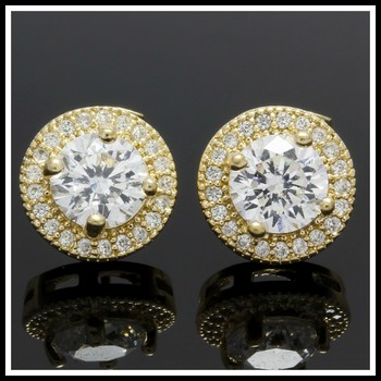 1.25ctw White Sapphire Stud Earrings