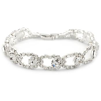 12.65ctw White Sapphire Tennis Bracelet