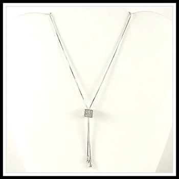 1.28ctw White Sapphire Necklace